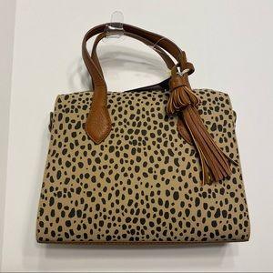 NWT Womens Tan Black Cheetah Spotted Purse Bag